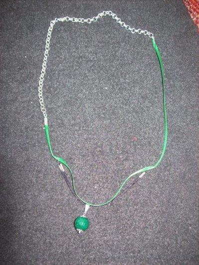collana /bracciale con cocco verde sfaccettato