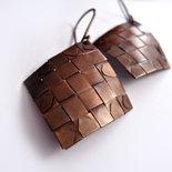 """Orecchini """"Copper Weaving"""" piccoli"""