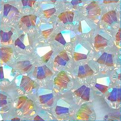 230  Cristalli, bicono 4mm * Crystal *AB