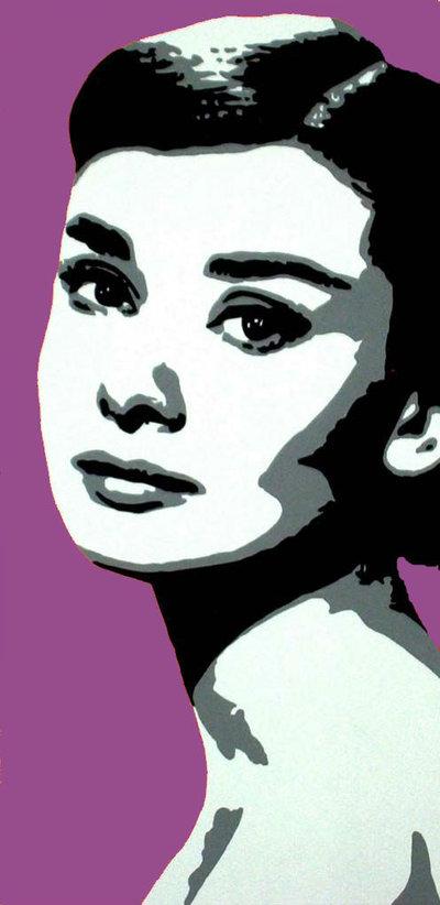 quadro pop art audrey hepburn