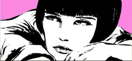 quadro pop art moderno valentina crepax