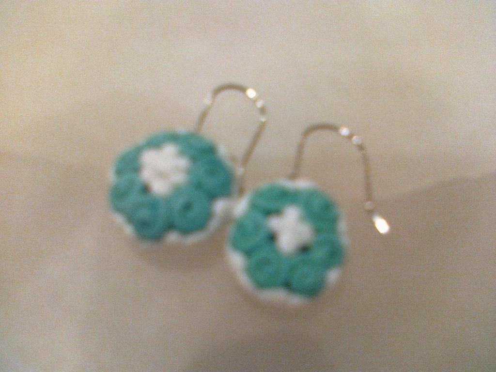 orecchini primavera verde acqua