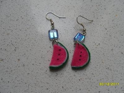 orecchini fetta d'anguria