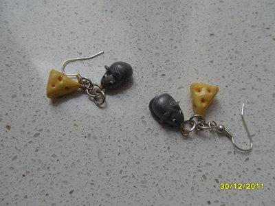 orecchini topo/formaggio