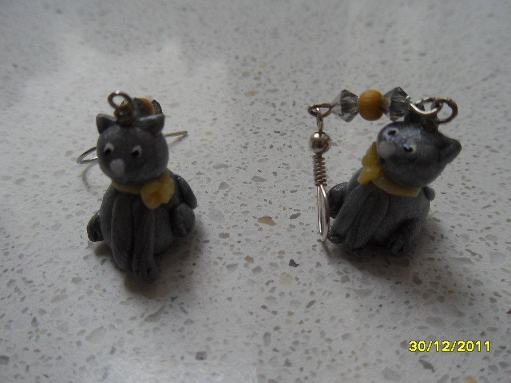 orecchini gattino