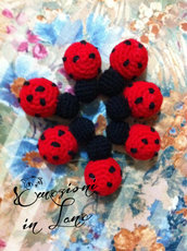 coccinelle all'uncinetto amigurumi