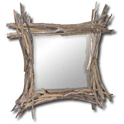 Specchio  ALBERT con bois flotté fatto a mano