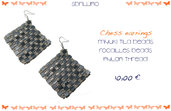 Chess earrings
