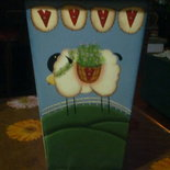 "Vaso ""sheep in the countryside"""