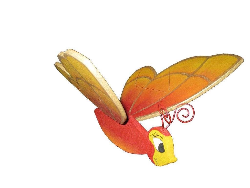 Farfalla rossa da appendere