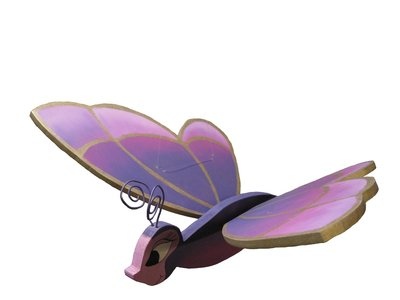 Farfalla rosa da appendere