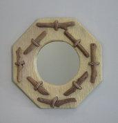 Specchio  PAGUA con bois flottè fatto a mano