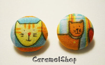 bottoni stoffa gatti