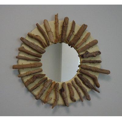 Specchio   SUN in bois flotté fatto a mano