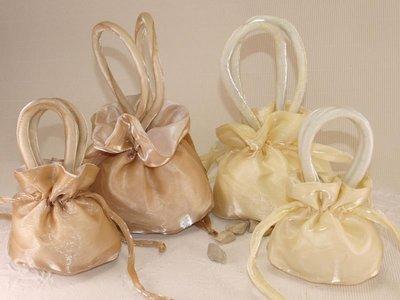 sacchetto organza e raso per bomboniere