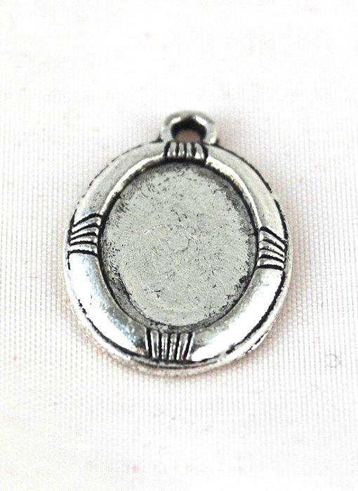 base per cammeo cameo argento tibetano 13x9 mm
