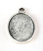 base per cammeo cameo argento tibetano 18x15 mm