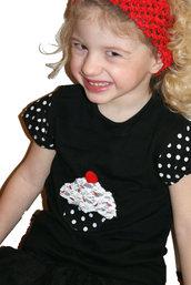 Maglietta Cupcake 3-4 anni