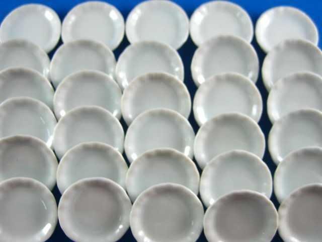 piattino miniatura 3 cm bianco lavorazioni fimo