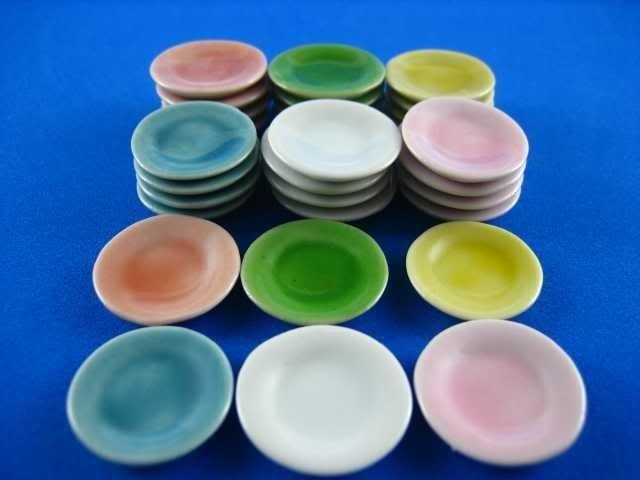 piattino miniatura 2 cm vari colori lavorazioni fimo