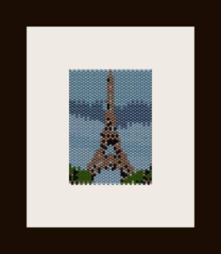 PDF schema pendente torre eiffel in  peyote pattern - solo per uso personale .