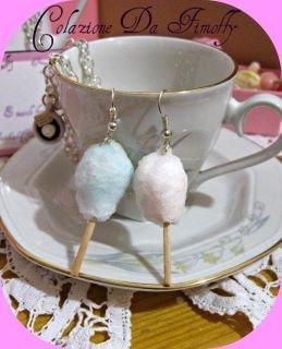 orecchini zucchero filato