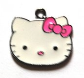 Hello kitty charms ciondolo smaltato faccina grande