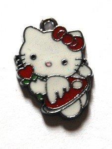 Hello kitty charms ciondolo smaltato fatina cuore rosso