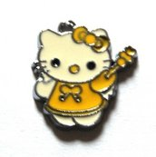 Hello kitty charms ciondolo smaltato fatina gialla