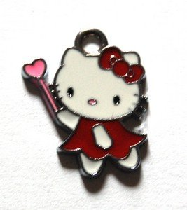 Hello kitty charms ciondolo smaltato fatina rossa