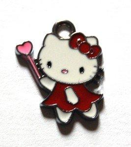 Hello kitty charms ciondolo smaltato fatina rossa