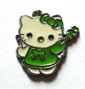 Hello kitty charms ciondolo smaltato fatina verde