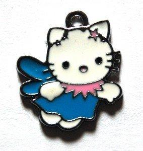 Hello kitty charms ciondolo smaltato libellula azzurra