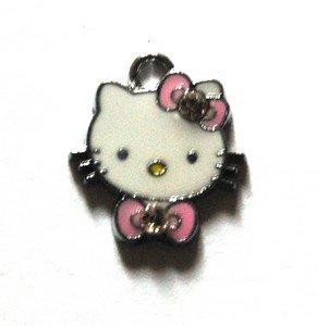 Hello kitty charms ciondolo smaltato papion rosa