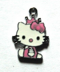 Hello kitty charms ciondolo smaltato principessa rosa