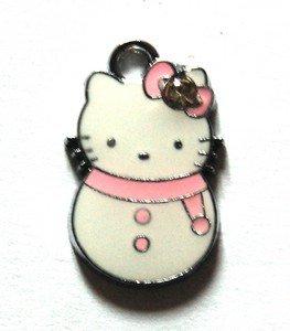 Hello kitty charms ciondolo smaltato pupazzo di neve