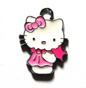 Hello kitty charms ciondolo smaltato stellina rosa