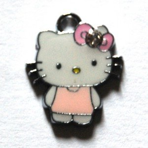 Hello kitty charms ciondolo smaltato vestito rosa