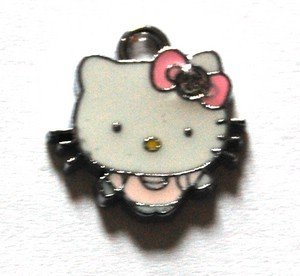Hello kitty charms ciondolo smaltato vestito rosa fiocco