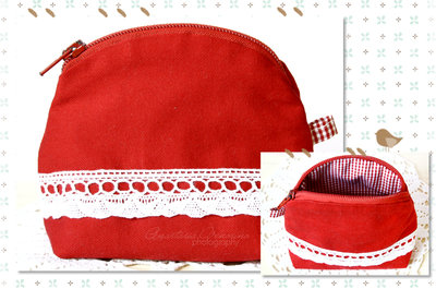 "Beauty-case /borsetta ""RED"""