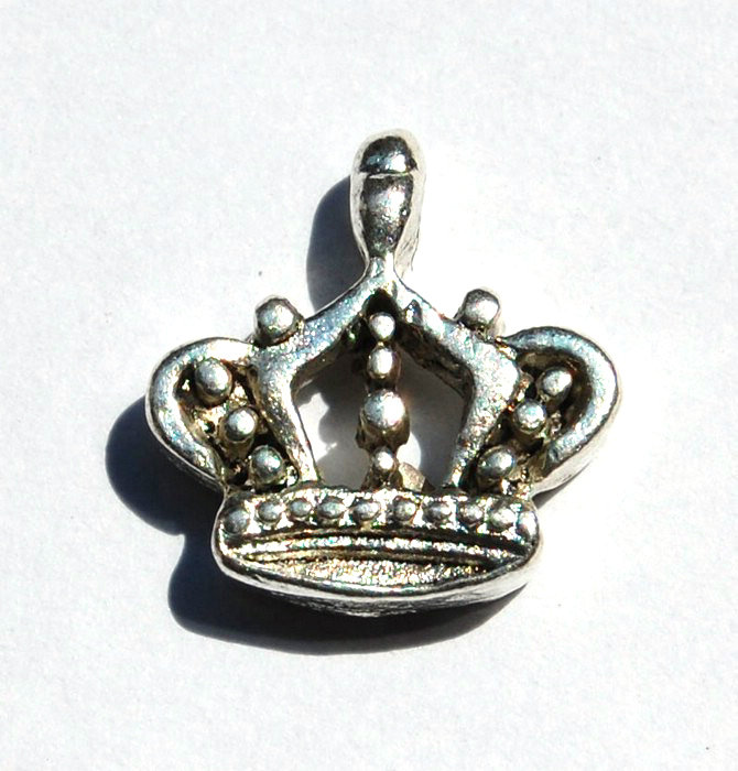 lotto da 5 charms charm corona argento tibetano 1,3cm