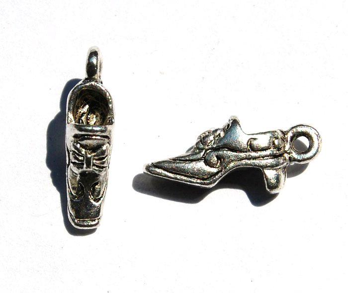 charms scarpa decoltè argento tibetano lotto da 5
