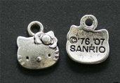 lotto 10 pezzi Hello kitty charms ciondolo argento 13mm