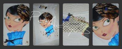 """Camiseta coleccion""""Amelie"""", inspirado en la ilustradora Sara Ruano"""