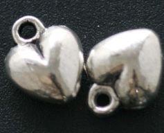 lotto 5 charms cuore 1 cm