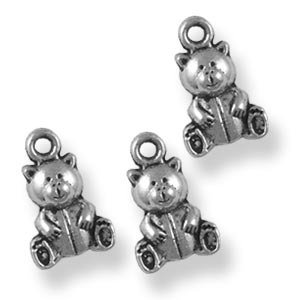 lotto 5 charms orsetto teddy bears 1,5 cm