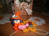Elfo porta foto con fiore