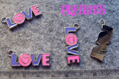 CHARM SMALTATO LOVE lotto 4 pz
