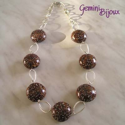 Collana Murrine Brown