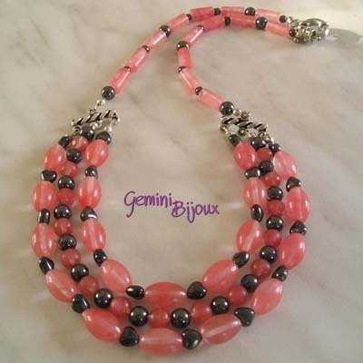 Collana Strawberry Quartz